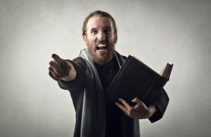 angry preacher